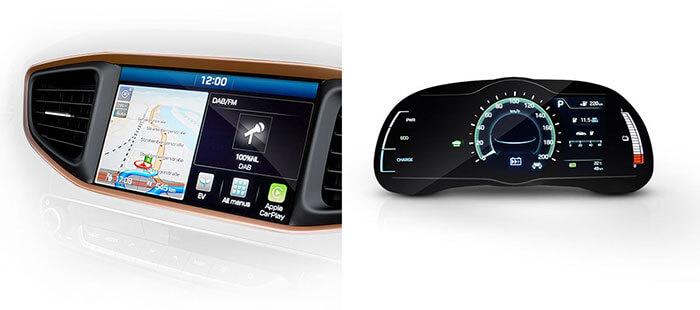 Информационные дисплеи в Hyundai IONIQ Electric