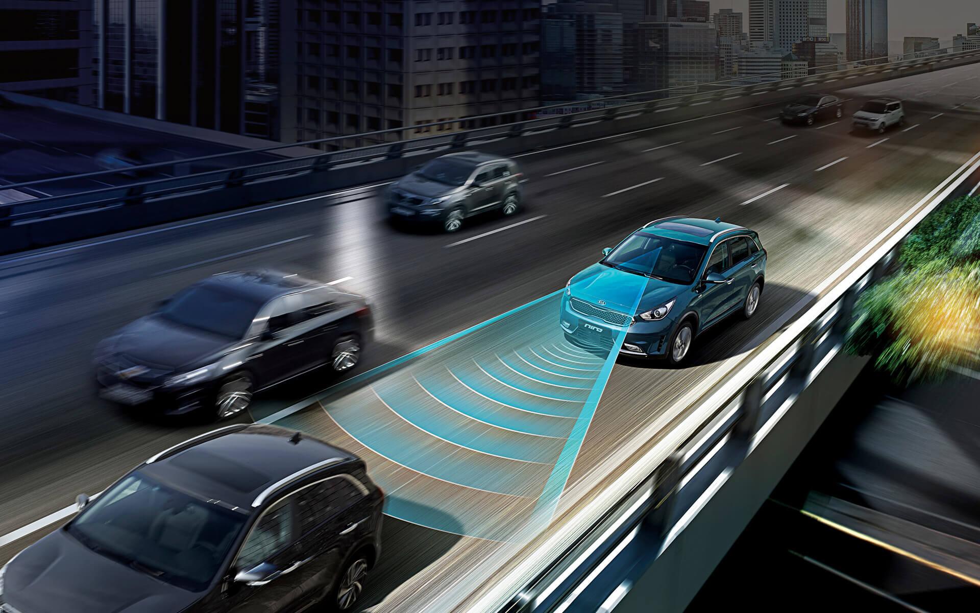 Инновационныесистемы безопасности гибридного Kia Niro