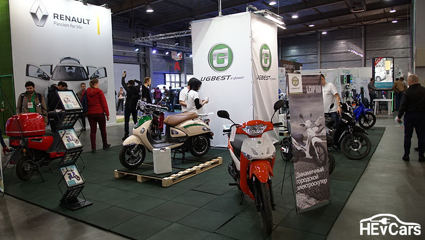 Электроскутеры UGBEST на выставке Plug-In Ukraine 2017