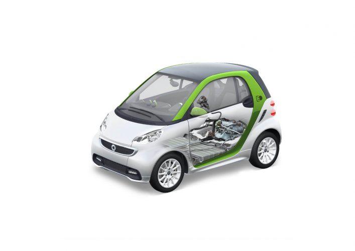 Расположение батареи Smart Fortwo Electric Drive