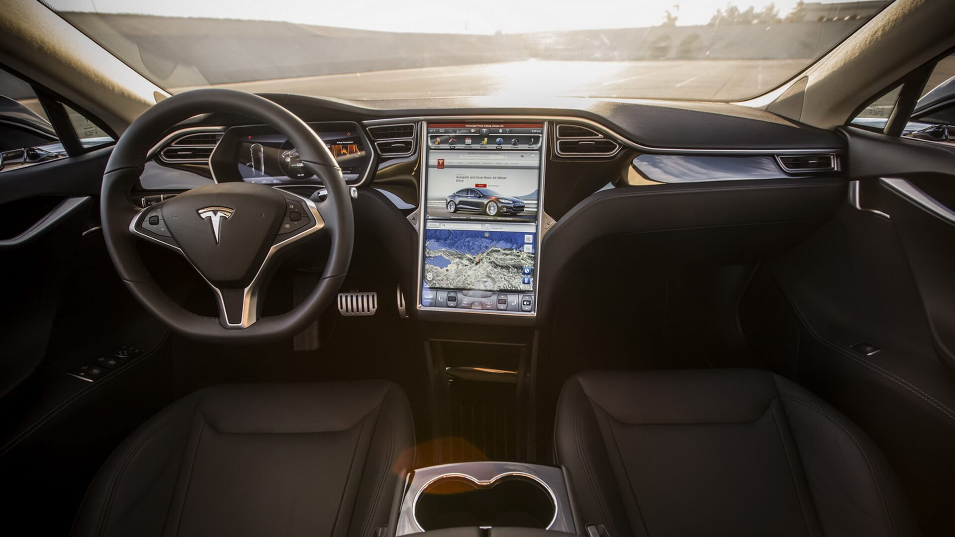 Tesla model s 2017 for Interior tesla model s