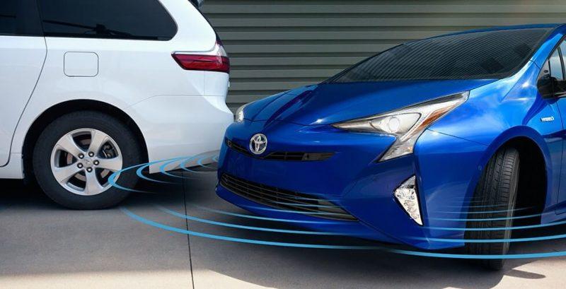 Система обнаружения пешеходов Toyota Prius Hybrid 2016