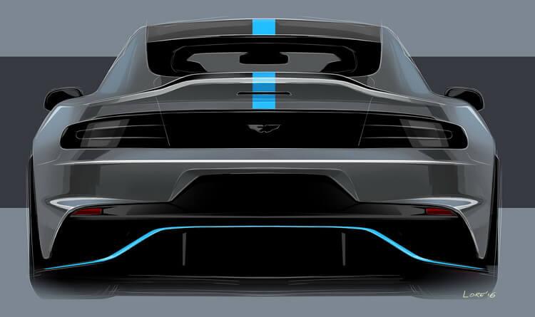Aston Martin RapidE Concept — вид сзади