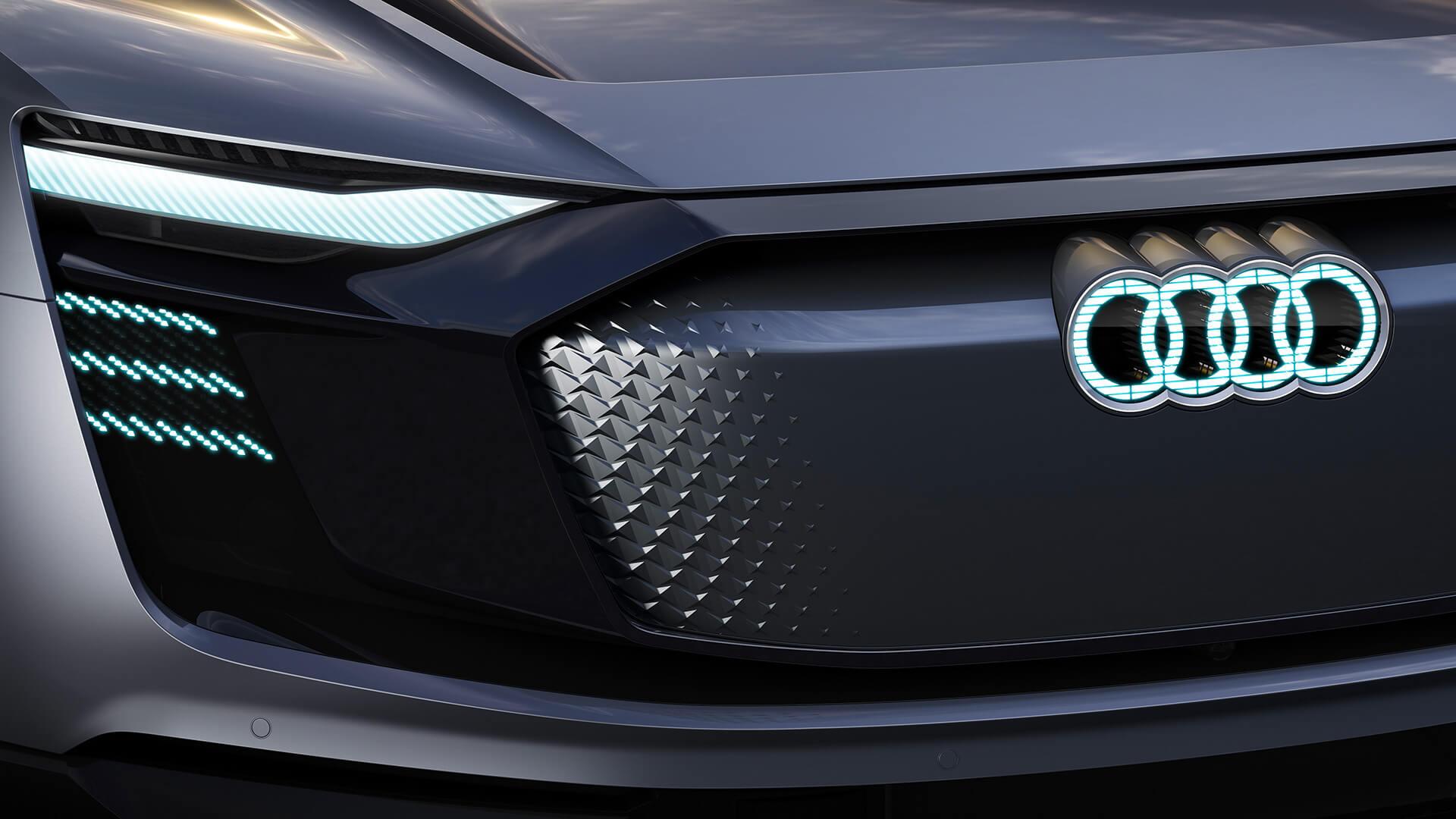 Передняя оптика Audi e-tron Sportback