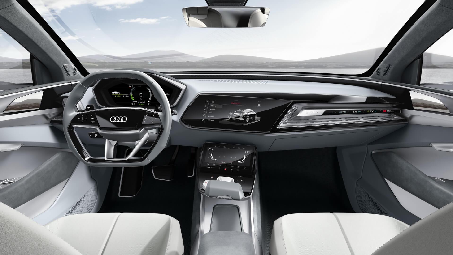 Приборная панель управления Audi e-tron Sportback