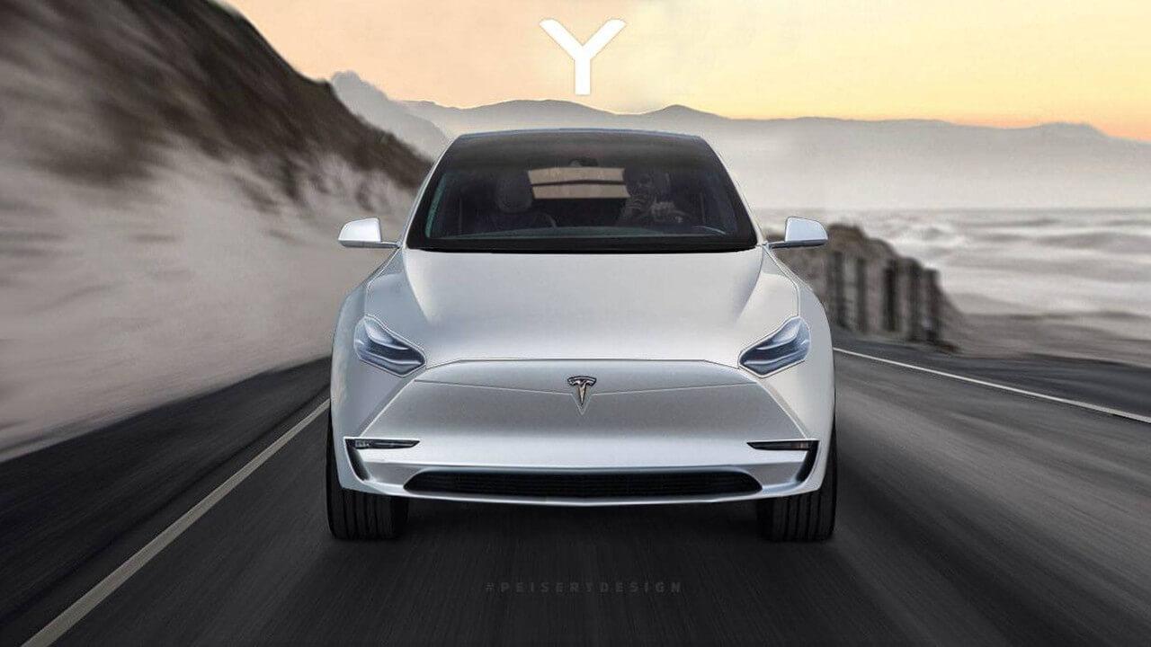 Возможный вариант дизайна Model Y