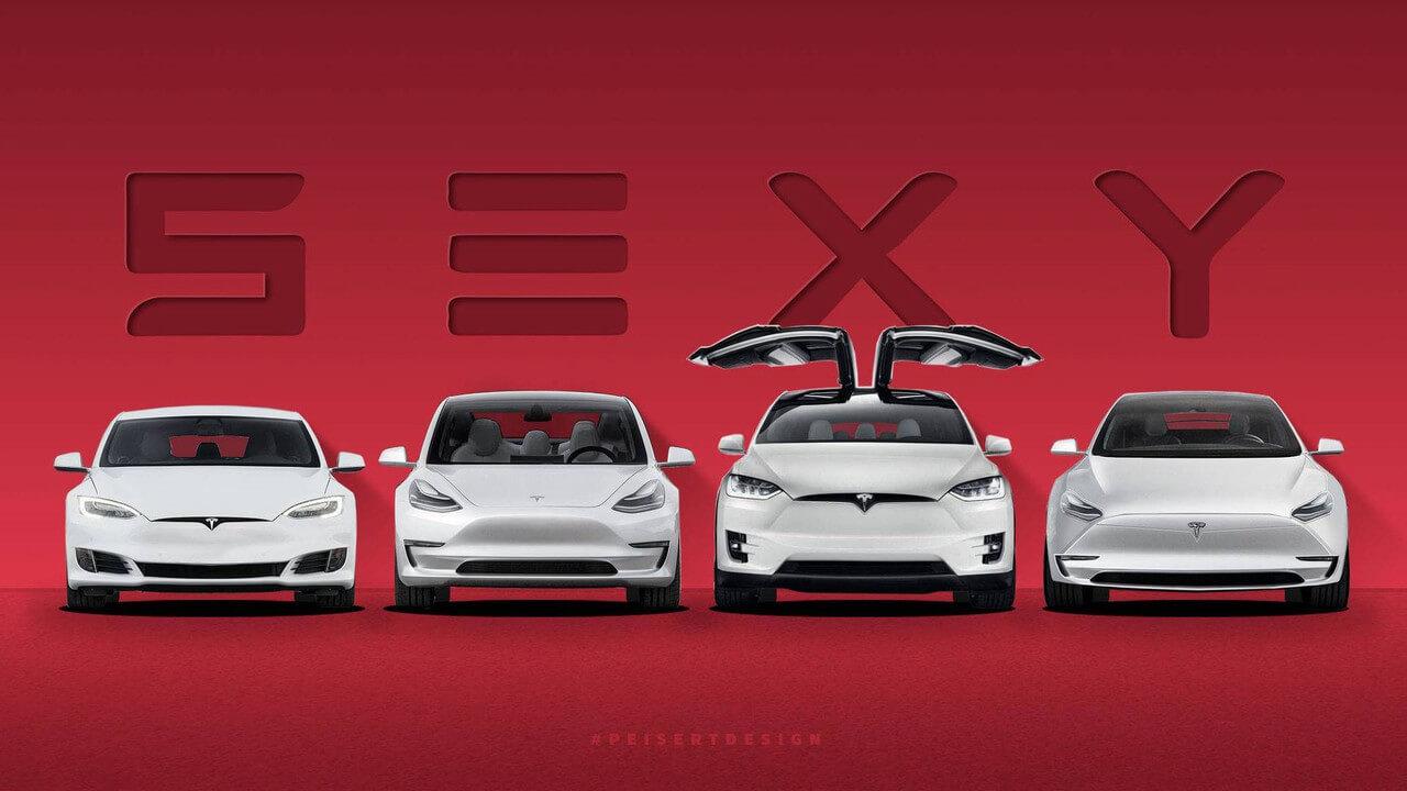 Дизайн моделей Tesla SEXY