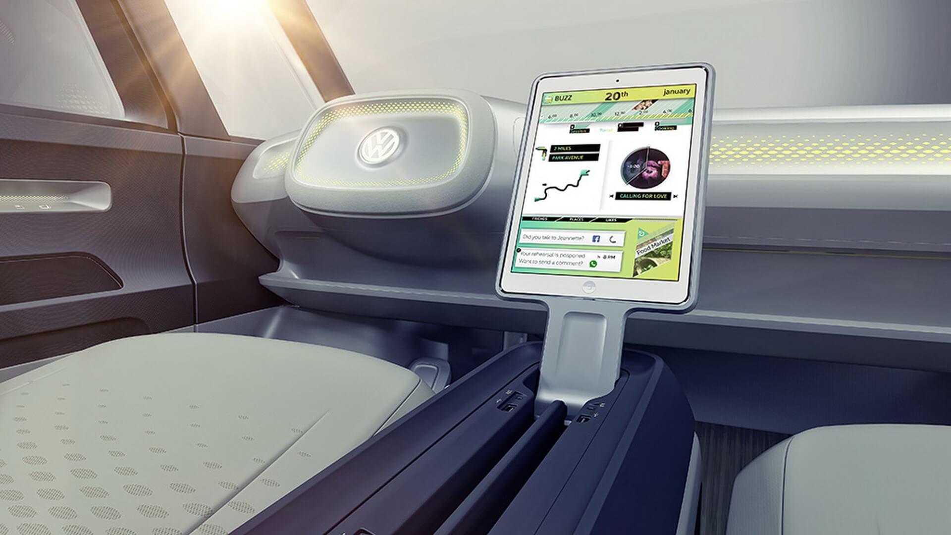 Ipad в качестве информационно-развлекательного центра VW I.D. Buzz