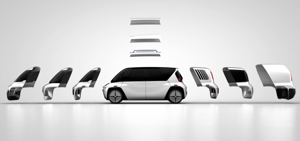 Концепция модульного самоходного электромобиля Edit