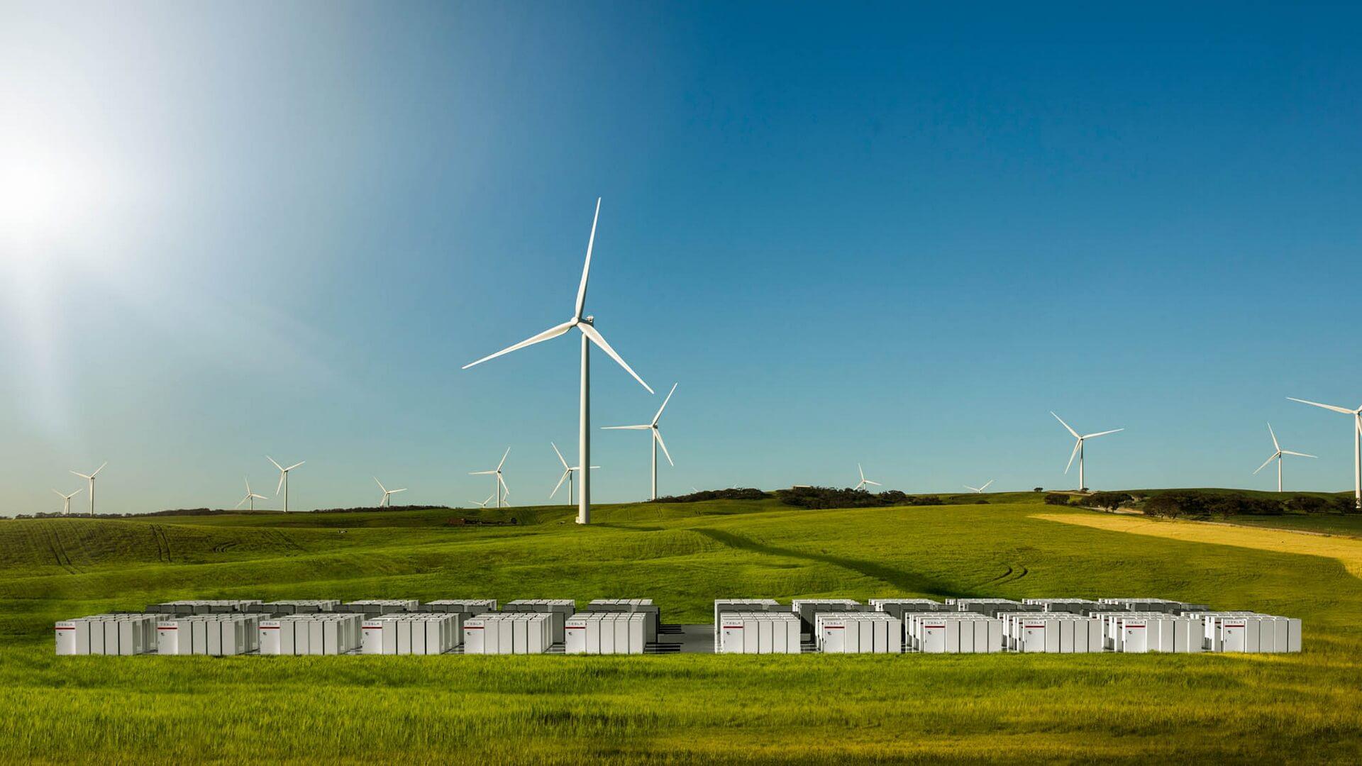 Ветряные электростанции Neoen и Tesla Powerpack в Южной Австралии