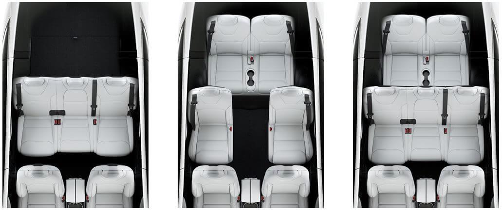Схема сидений в Tesla ModelX