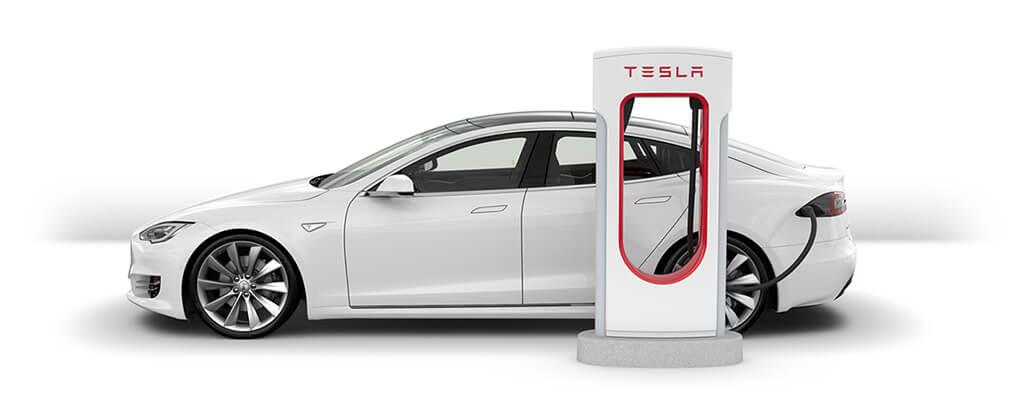 Быстрая зарядная станция Tesla Model S