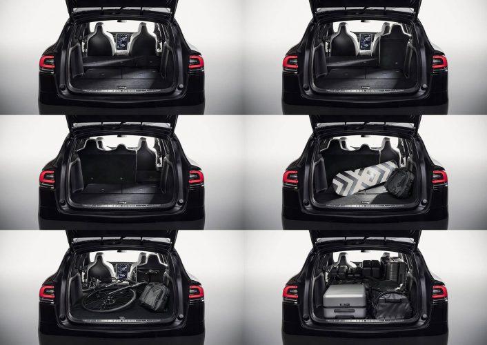 Грузоподъемность Tesla Model Xв разных конфигурациях