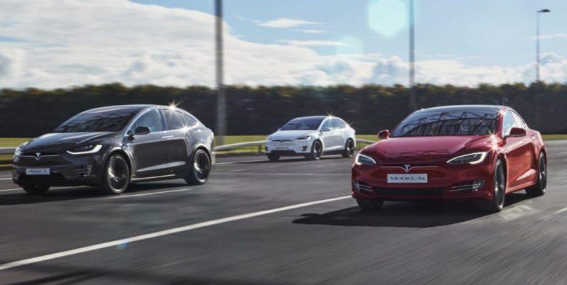 Модельный ряд электромобилей Tesla Model S и Model X