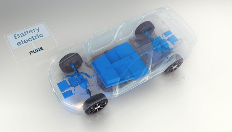 Схема электрического автомобиля Volvo