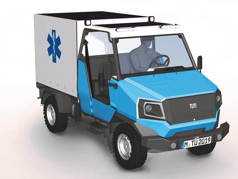 Концепт электрического модульного автомобиля для Африки aCar