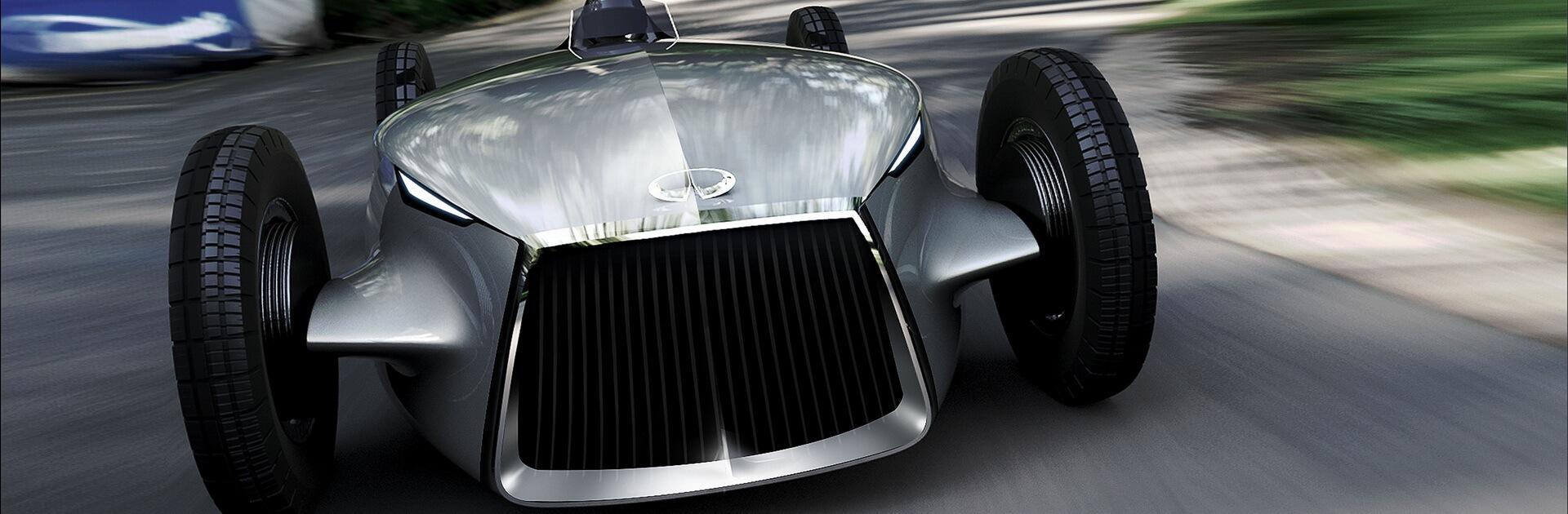 Массивная радиаторная решетка спорткара Prototype 9
