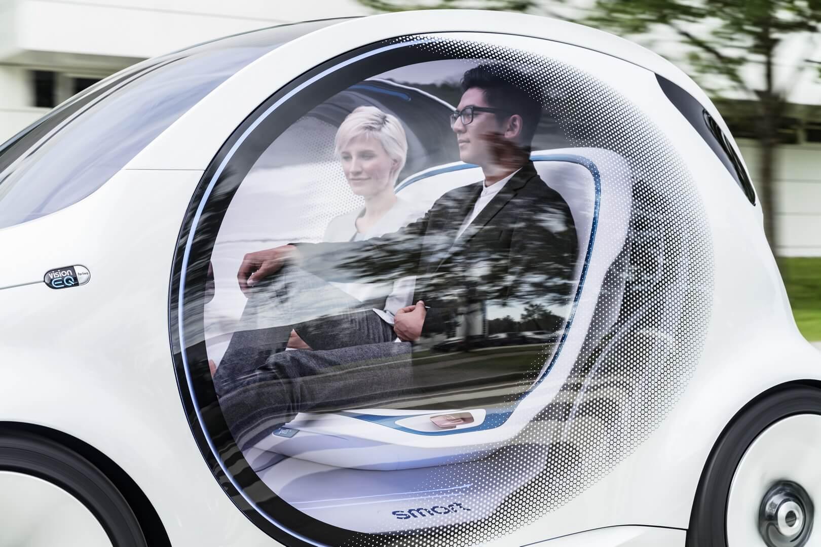 Пассажиры в Smart Vision EQ fortwo