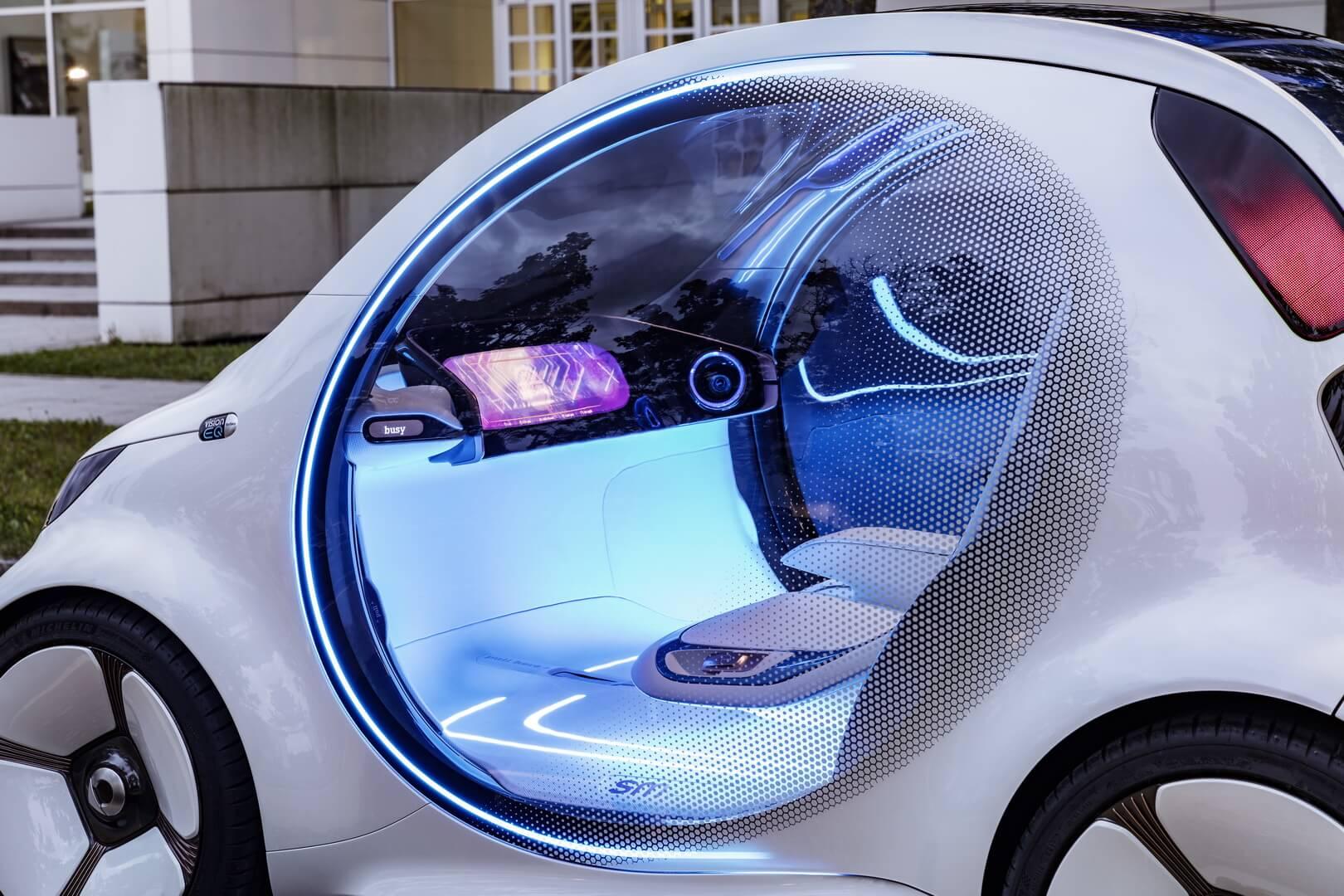 Цветовая схема Smart Vision EQ отличается прохладным и футуристическим внешним видом