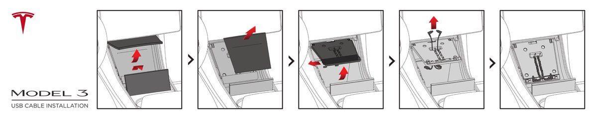 Использование зарядной док-станции на центральной консоли Tesla Model 3