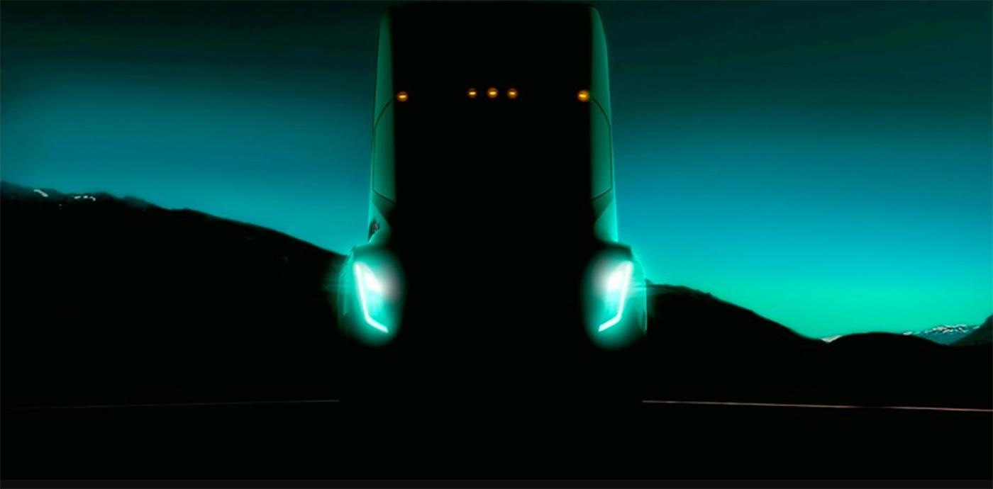 Официальный фото-тизер Tesla Semi