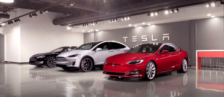 Салон по продаже электромобилей Tesla