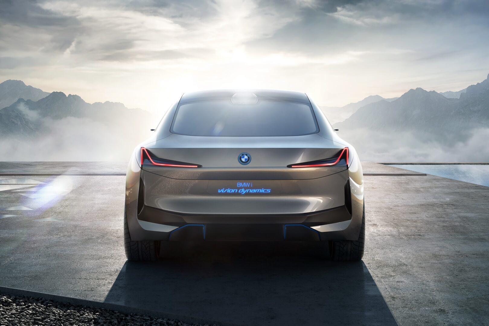 Концепт BMW i Vision Dynamics — вид сзади