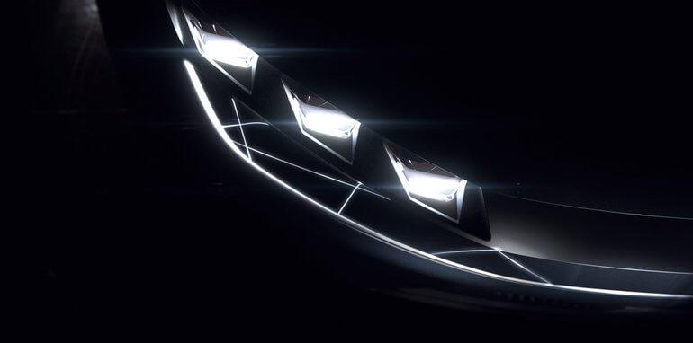 Передние фары электромобиля Byton