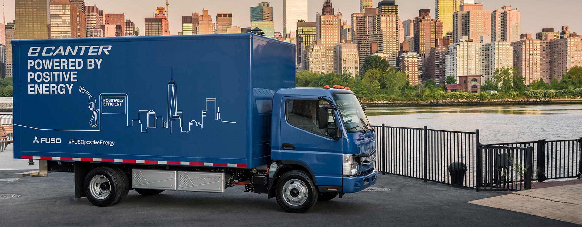 Полностью электрический легкий грузовой автомобиль eCanter