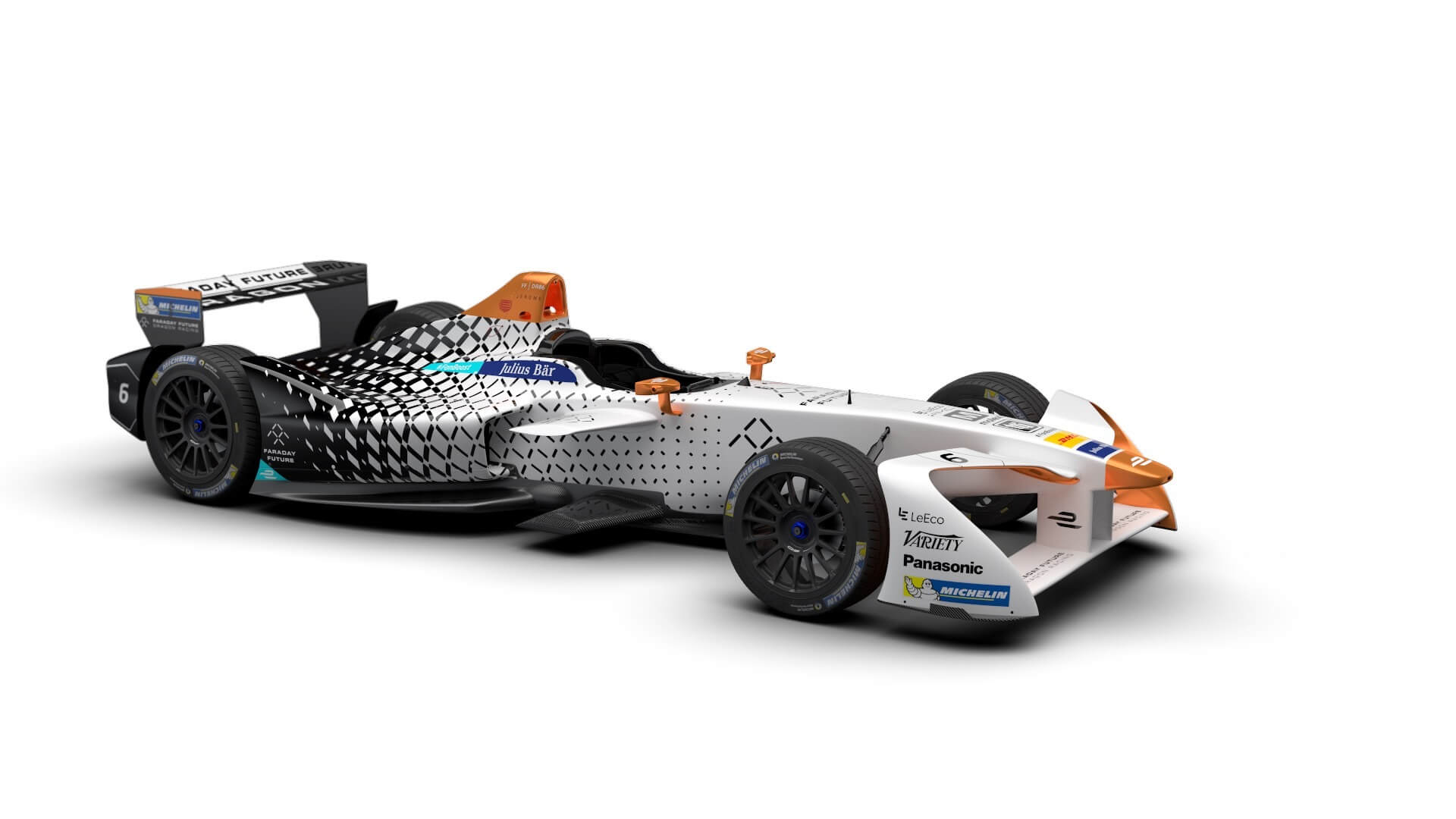 Гоночный электромобиль Faraday Future Dragon Racing Formula E 2016/2017