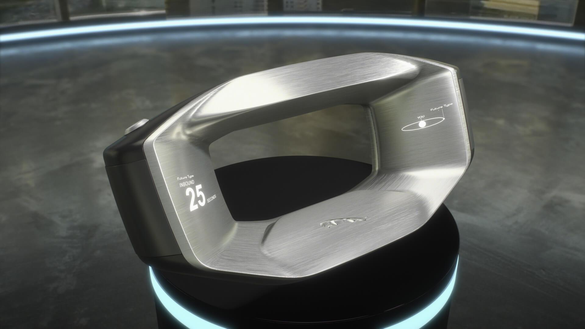 Sayer: рулевое колесо будущего в Jaguar Future-Type Concept