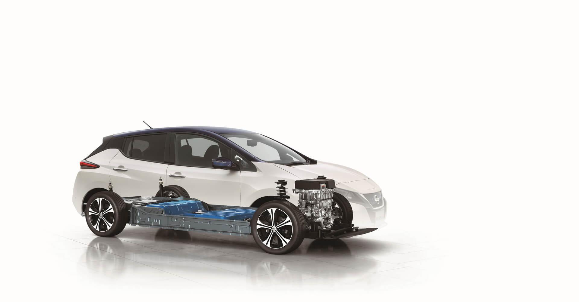 Аккумуляторная батарея, электродвигатель и трансмиссия в Nissan Leaf 2018