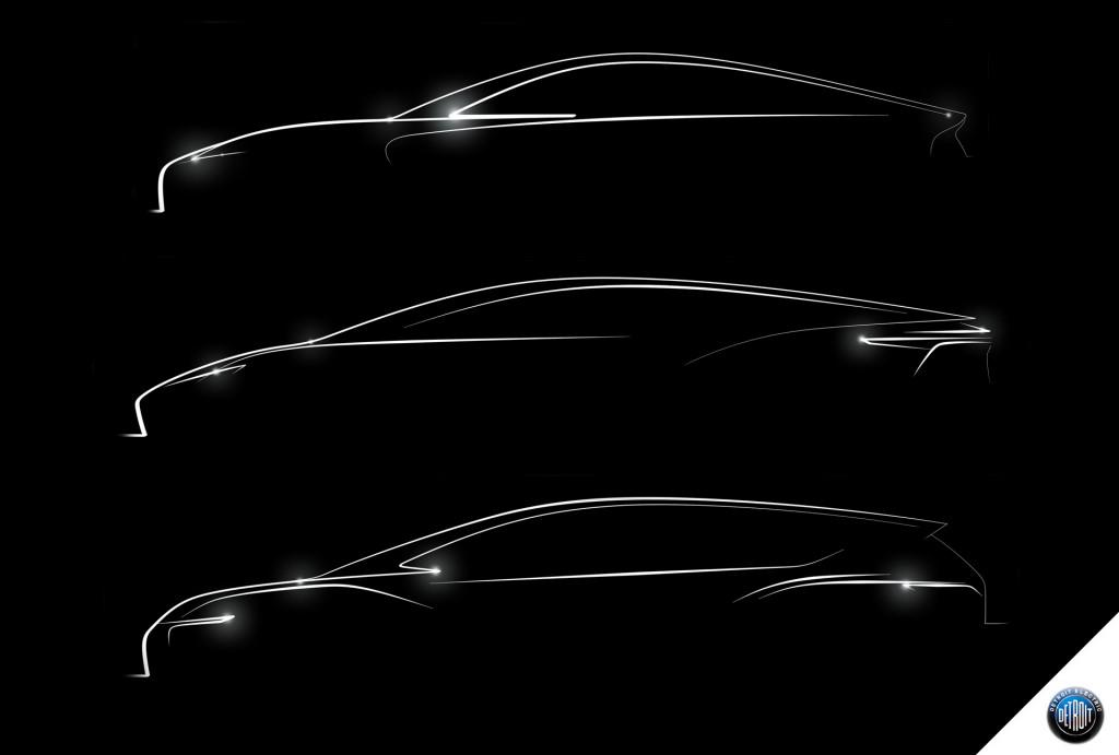 Тизер будущих электромобилей Detroit Electric