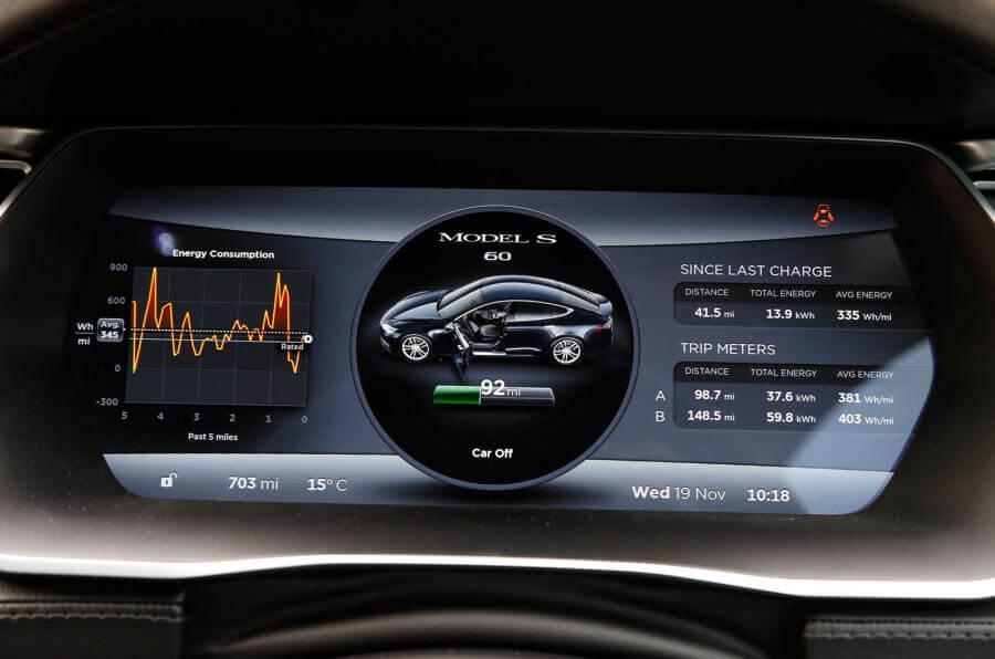 Автомобильный циферблат Tesla Model S 60