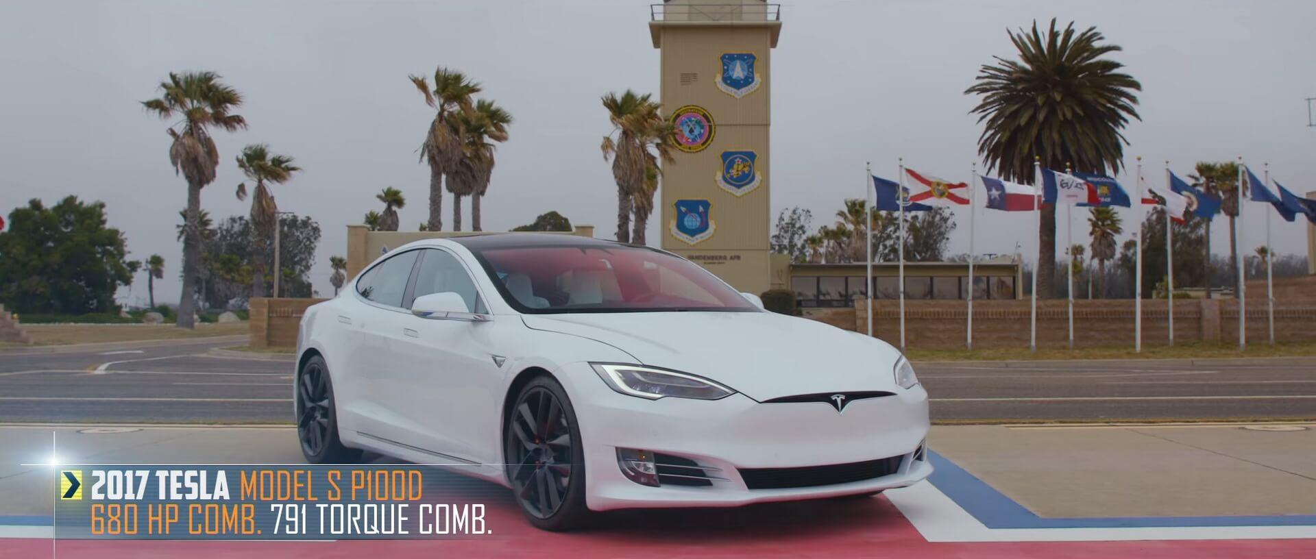 Tesla Model SP100D Ludicrous в «величайшей гонке вмире»