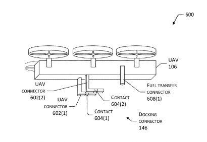 Схема зарядки электромобилей дроном Amazon