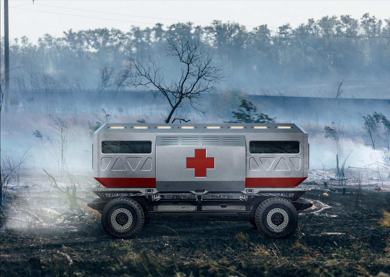 Автономная платформа-грузовик SURUS