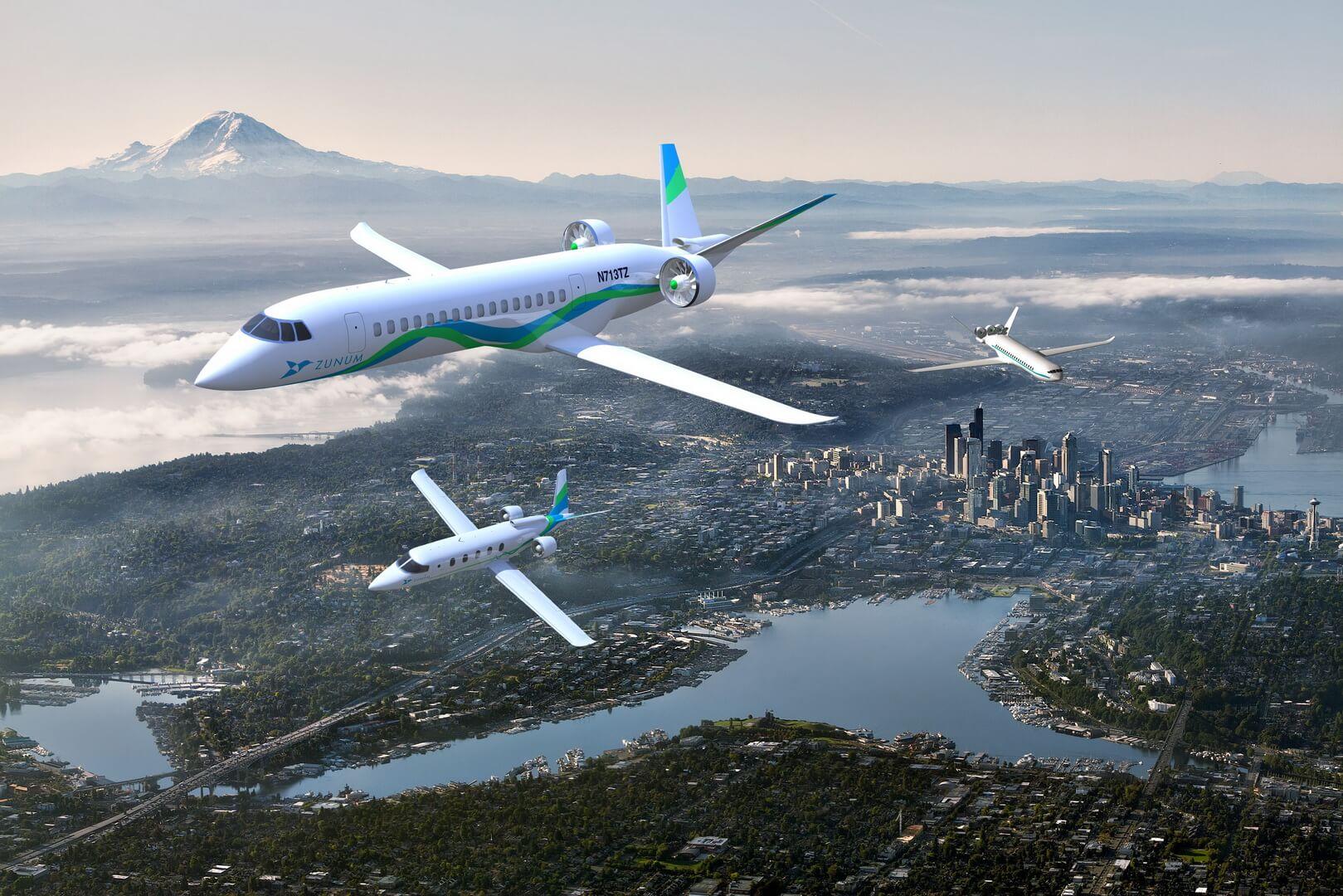 Гибридные самолеты Zunum
