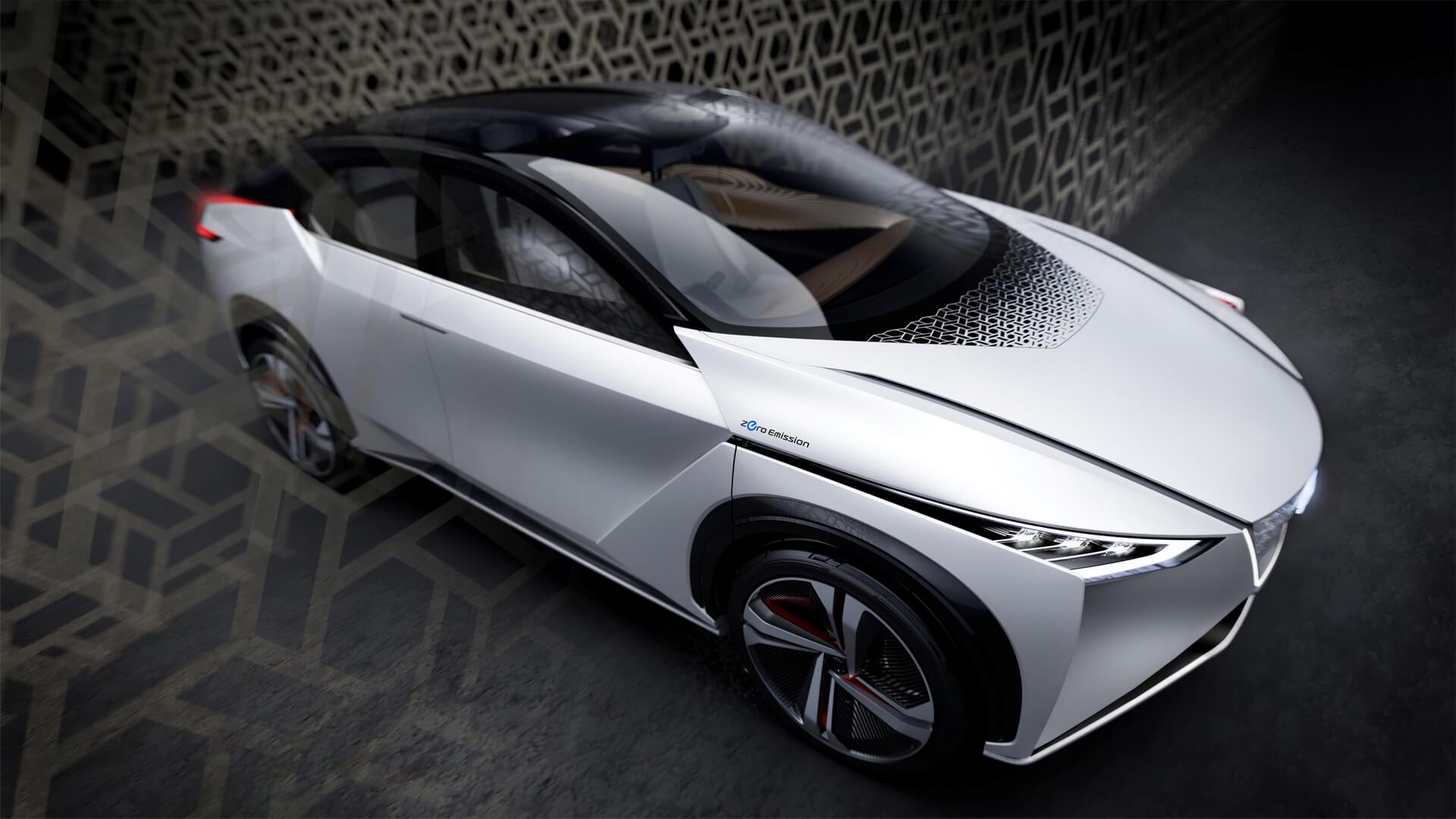 Гибкий силуэт электромобиля Nissan IMx