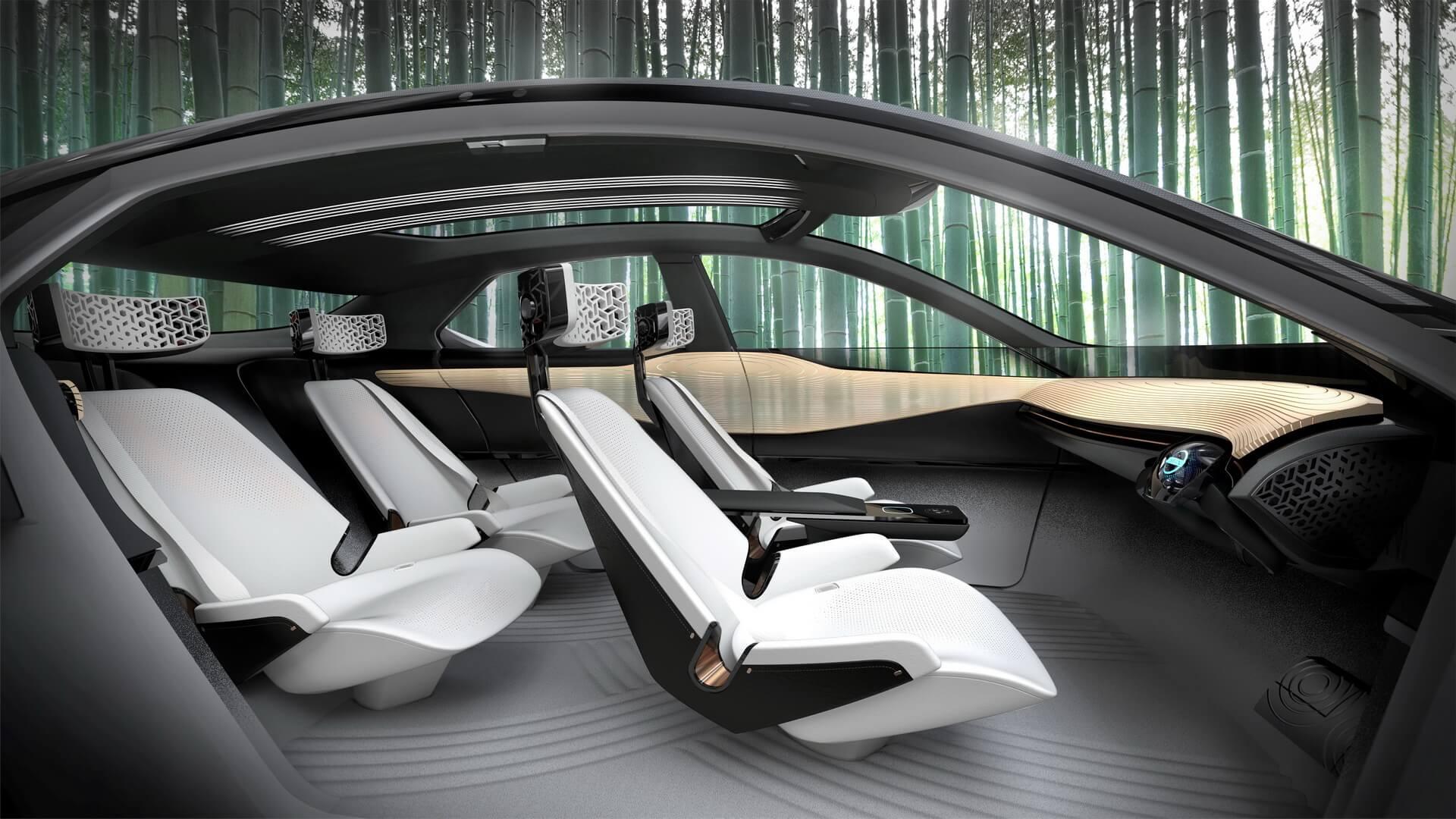 Салон кроссовера Nissan IMx