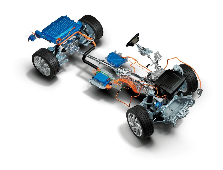 Шасси исиловой агрегат Range Rover Sport plug-in hybrid P400e