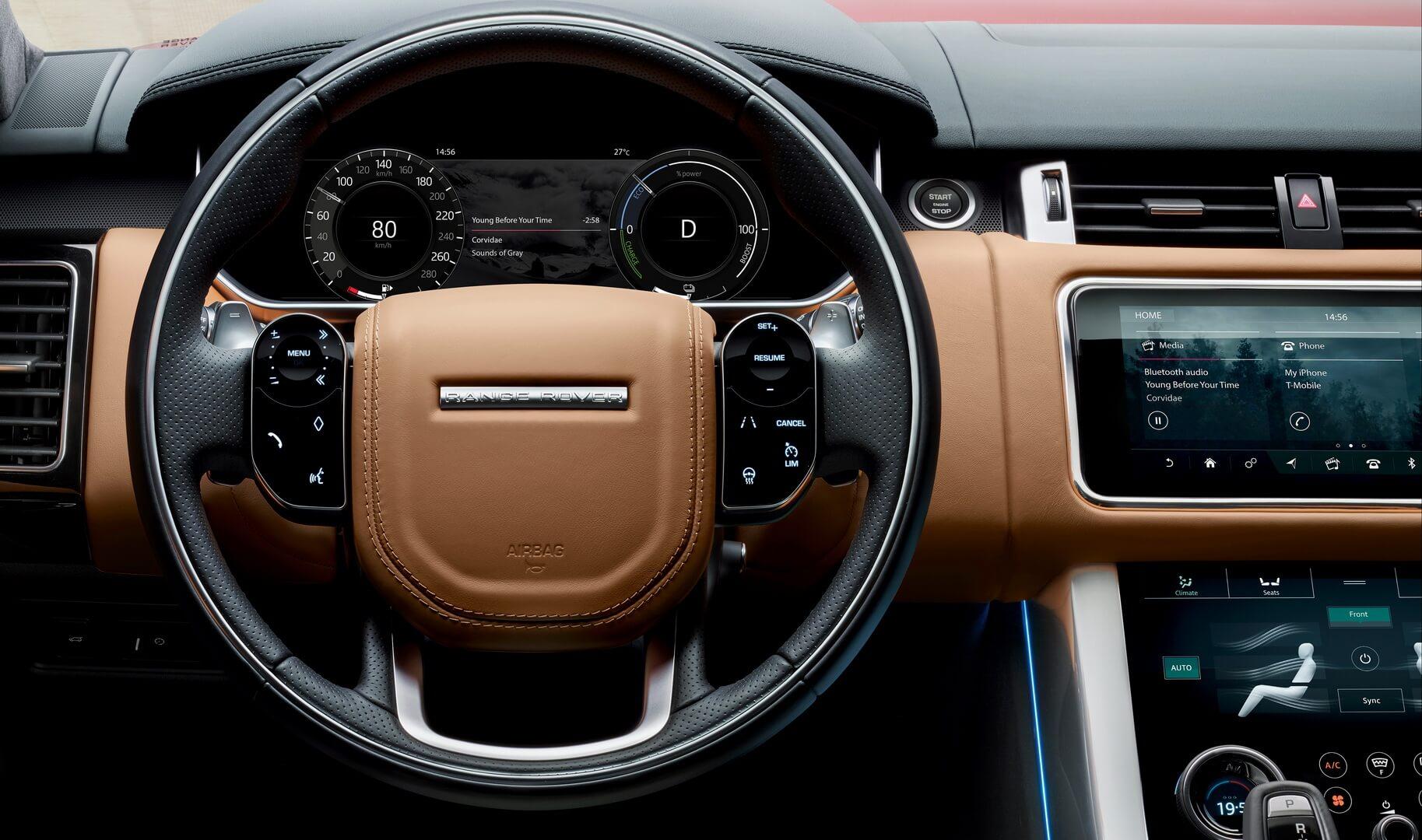 Салон Range Rover Sport plug-in hybrid P400e