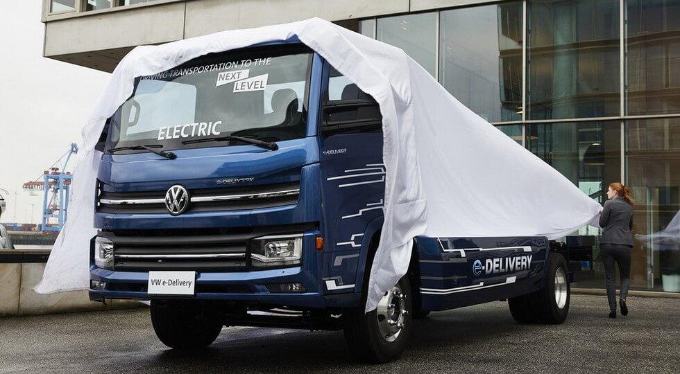 Легкий электрогрузовик для городской развозки товаров Volkswagen e-Delivery