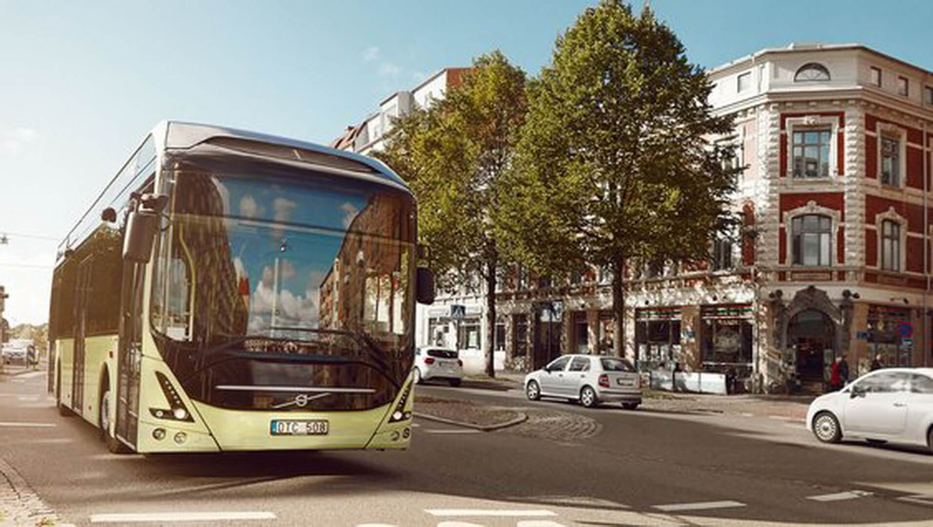 Электрический автобус Volvo 7900