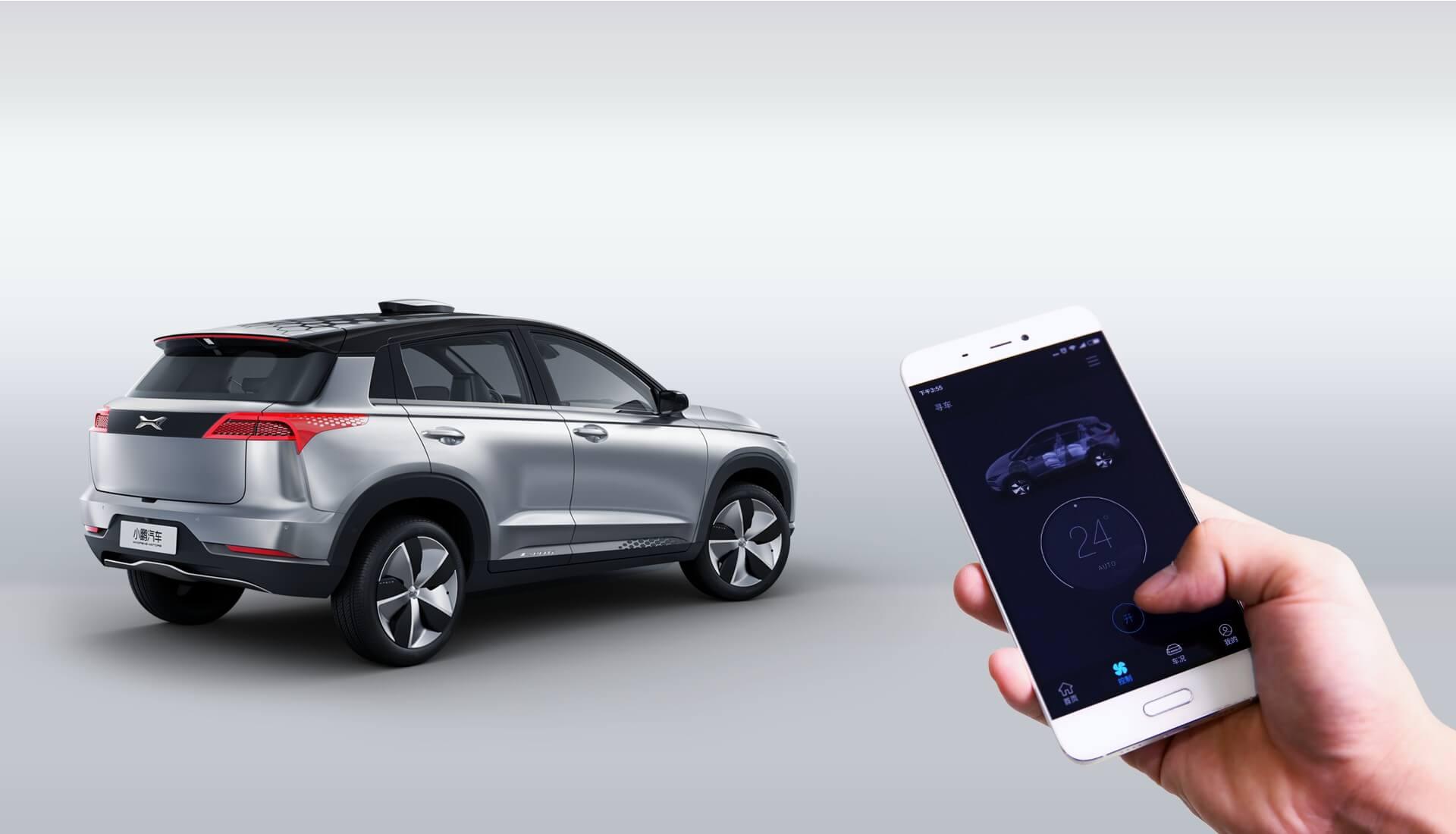 Приложение насмартфоне для управления электромобилем