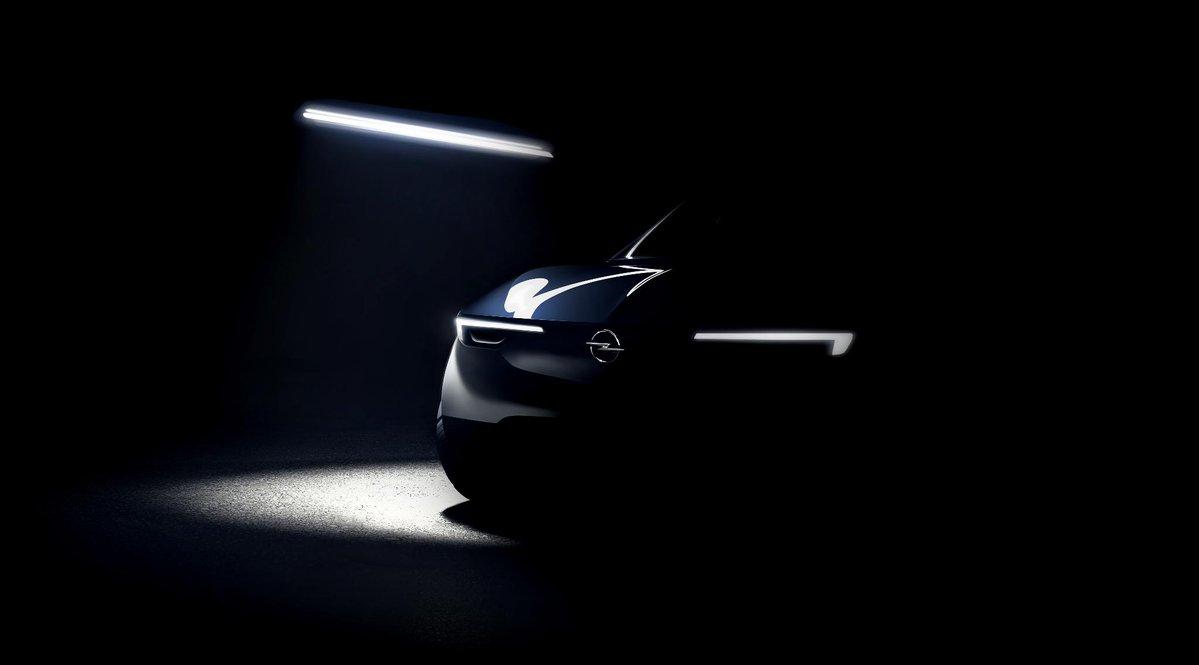 Фото-тизер будущего электрического внедорожника Opel