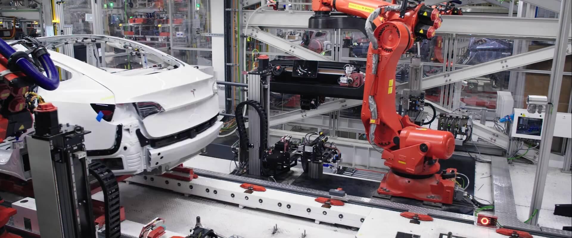 Производство электромобилей Tesla Model 3