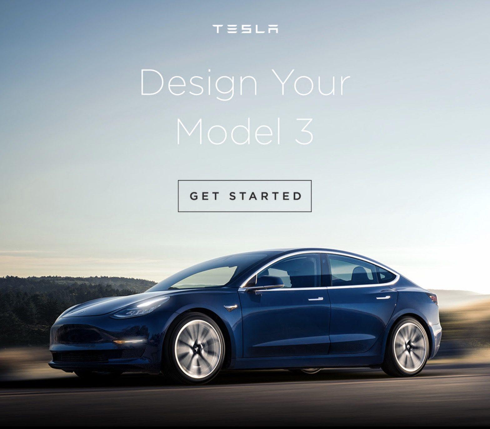 Конфигуратор Tesla Model 3