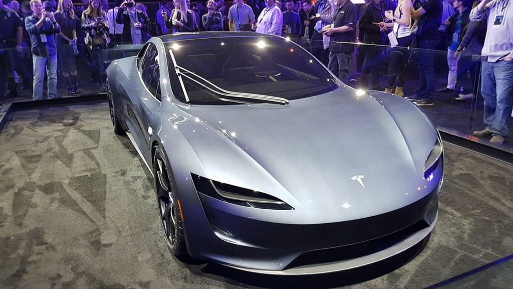 Tesla Roadster 2 с презентации Tesla Semi