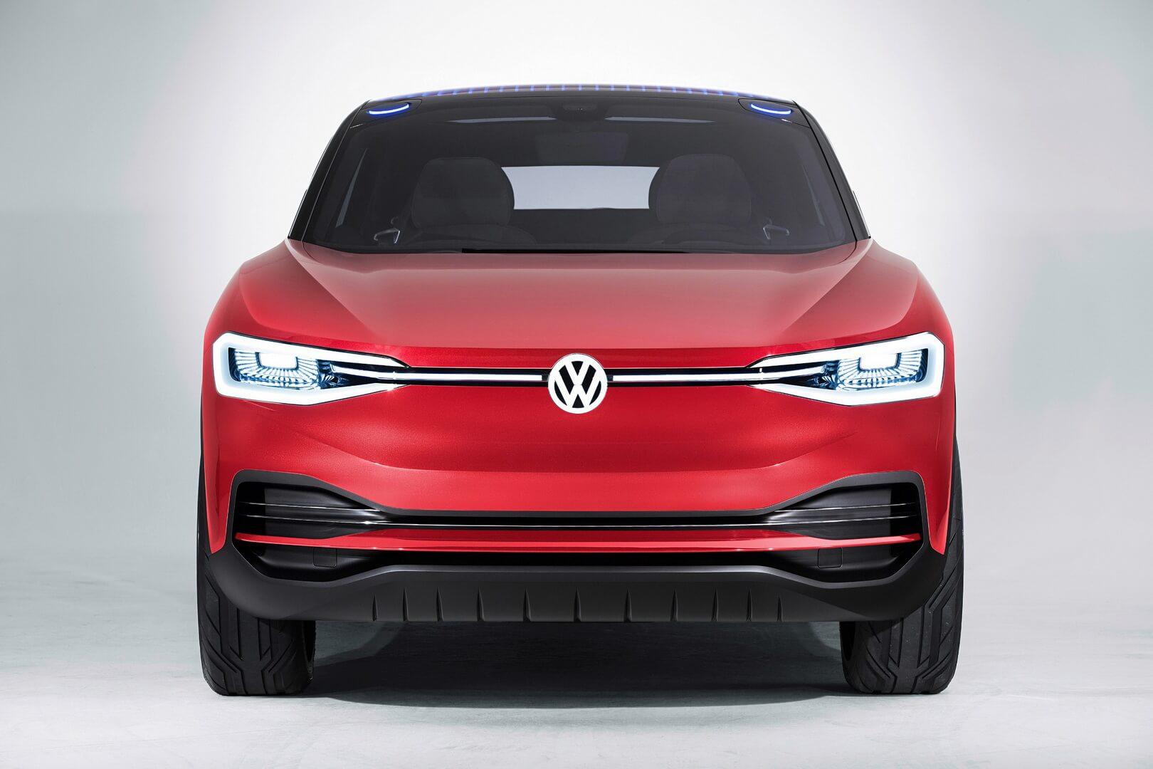 Электрический внедорожник Volkswagen I.D. Crozz— вид спереди